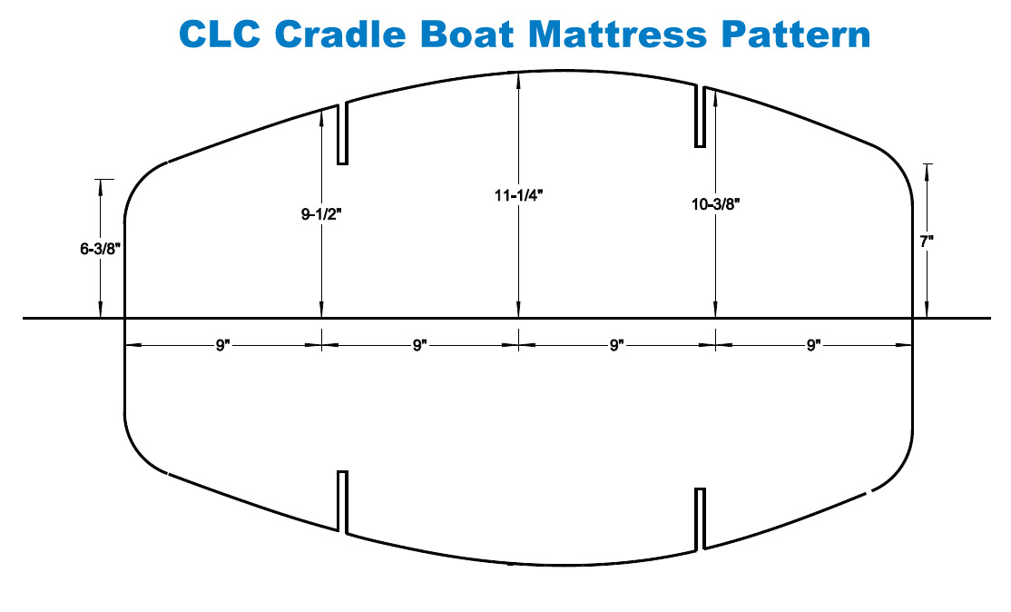 CLC Cradle Boat Mattress Pattern