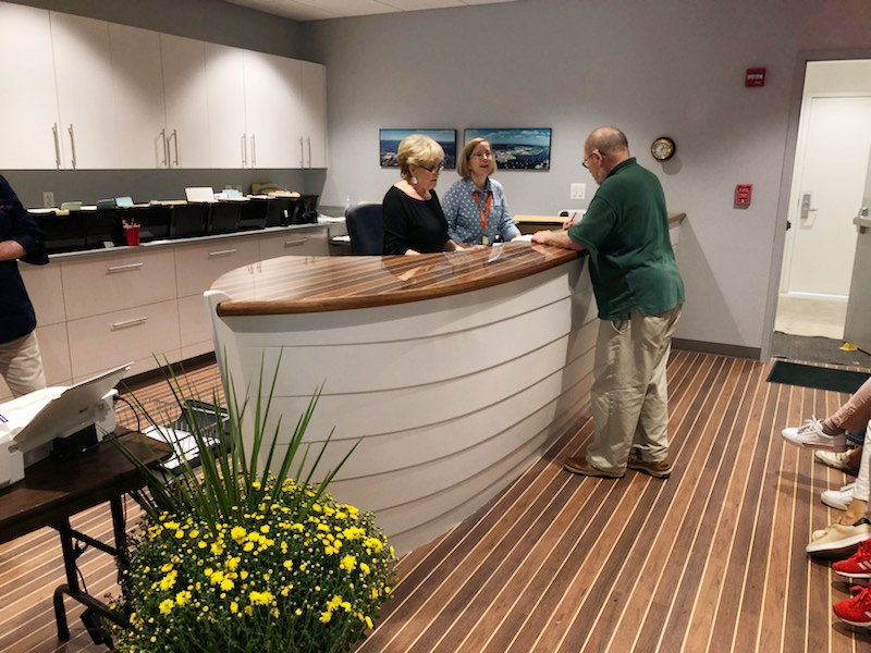 Boat Shows Reception Desk