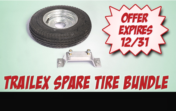 Order a Trailex SUT Trailer through December 31st and we'll include a spare tire and spare tire carrier for FREE! Save up to $142