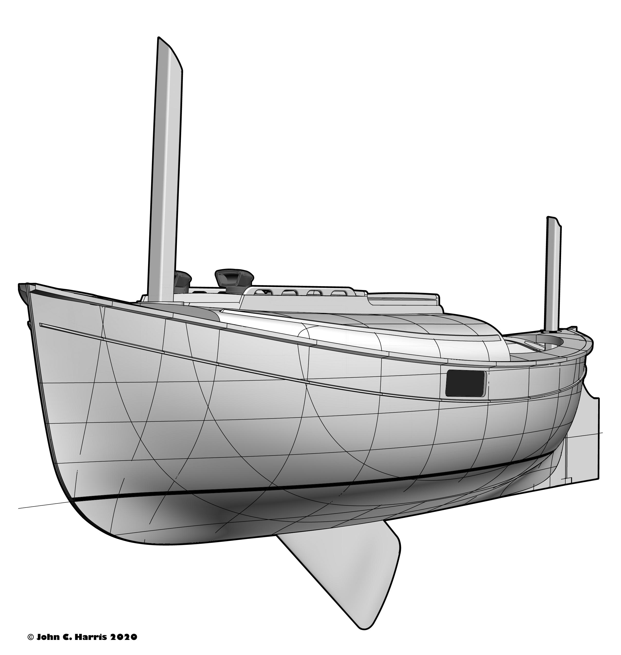 Small Canoe Yawl