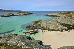 Beach Cruising with the Faering in Scotland