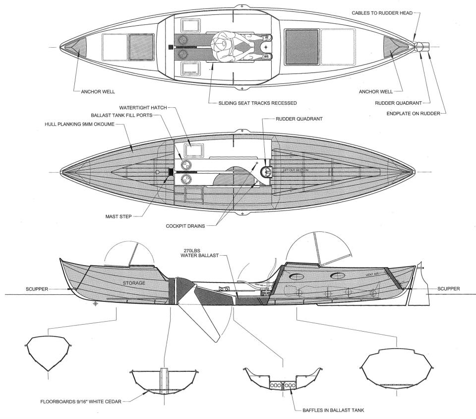 Launching Chesapeake Light Crafts 226 Rowing Sailing Faering Cruiser Wiring Jpg Http Www Boatdesign Net Forums Electrical Systems Pretty Much The Final Configuration