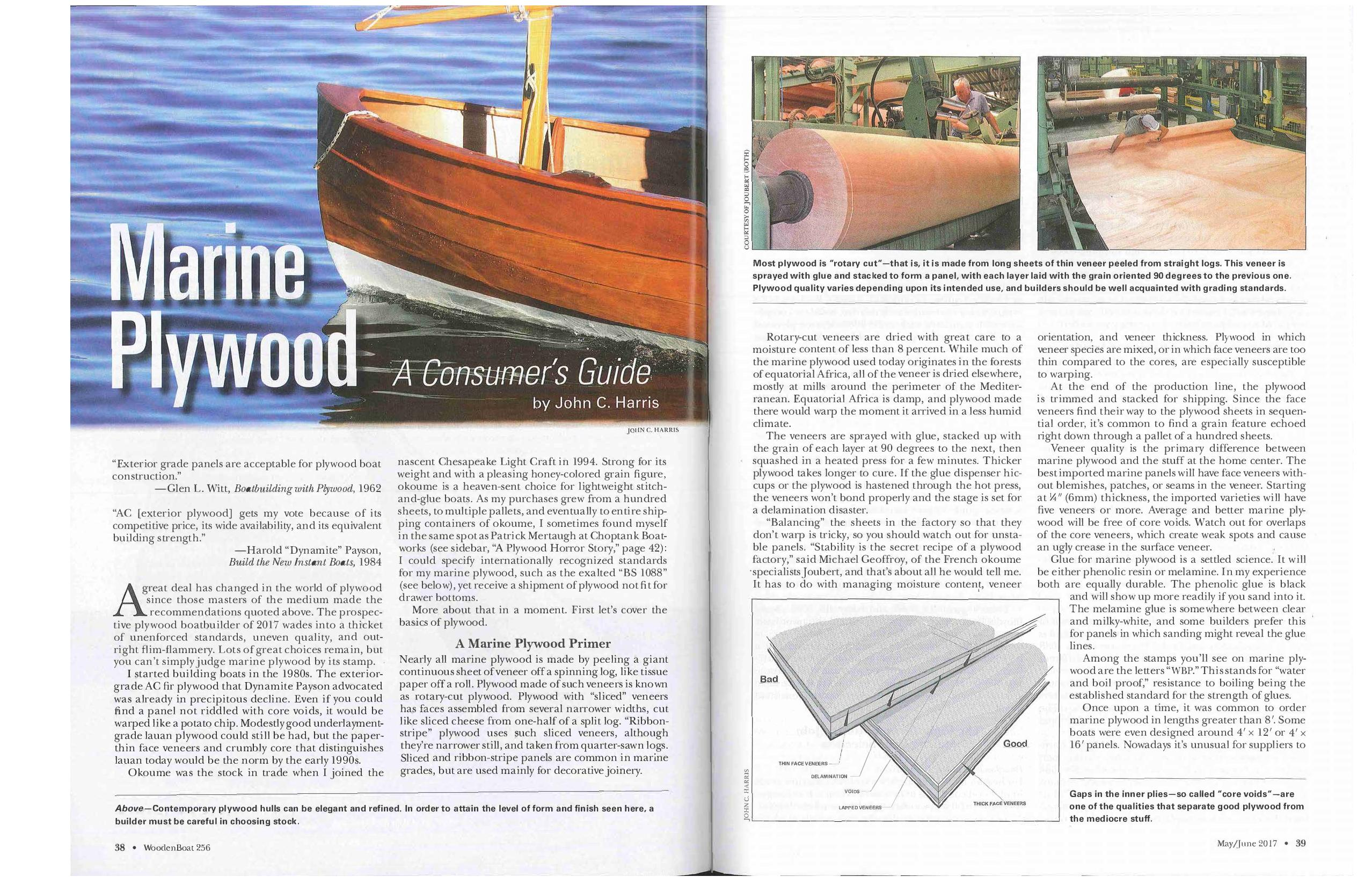 Woodenboat Magazine 256 Marine Plywood A Consumers Guide