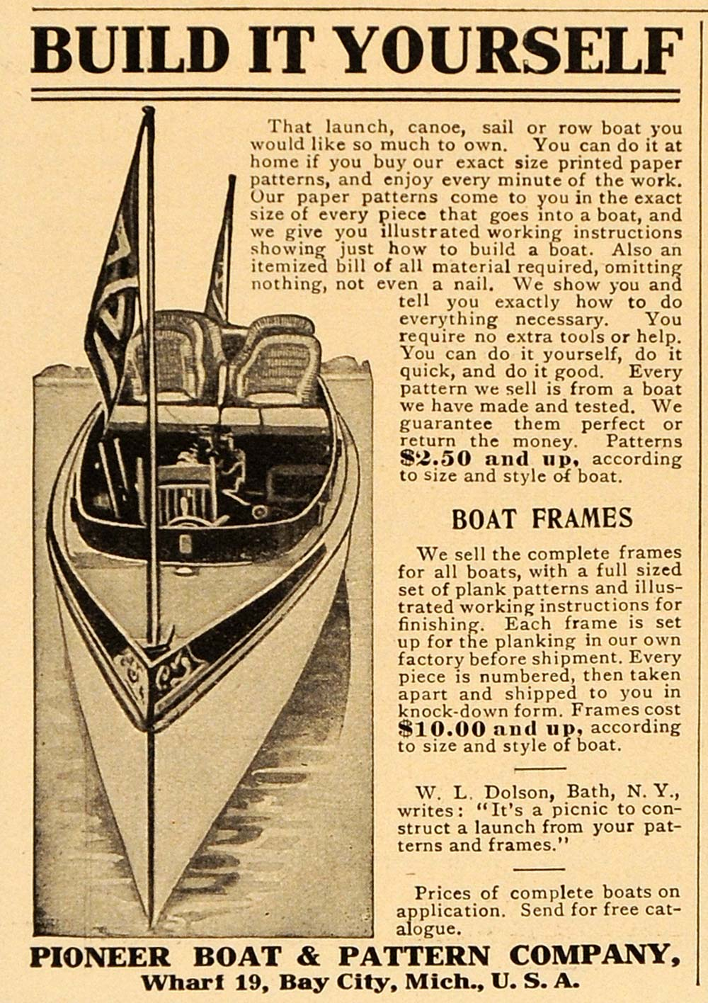 Old Boat Kit Ad