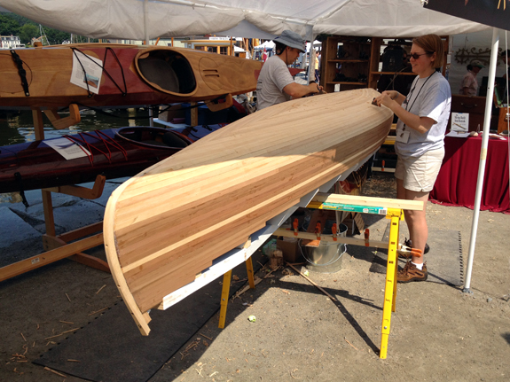 Nick Schade Strip Planked Canoe