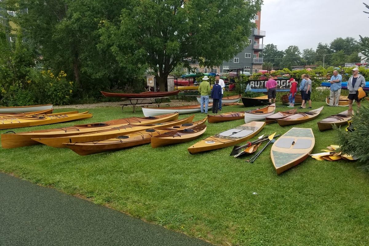 In-water demo at Rutabaga Paddlesports