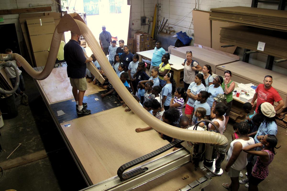 CNC machine at Chesapeake Light Craft