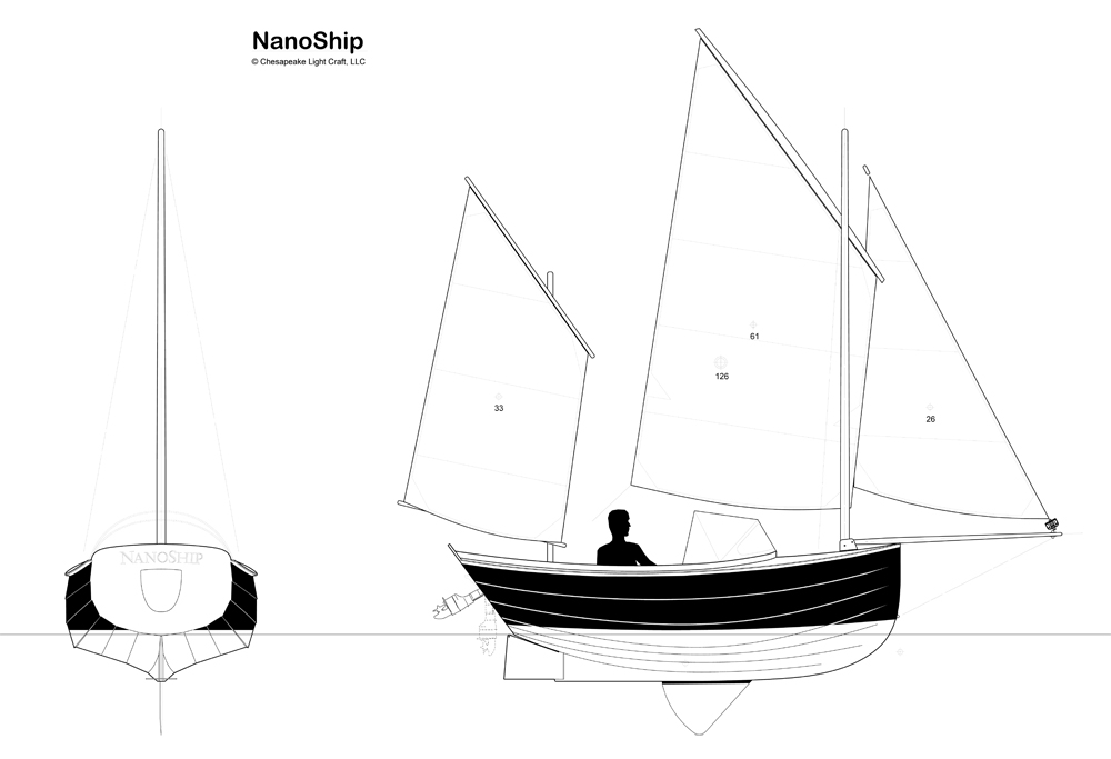NanoShip - Chesapeake Light Craft's Camp-Cruising Dinghy for amateur builders