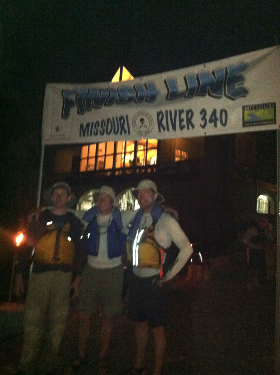 Team MuddyBlueEyes at the MR340 Finish Line
