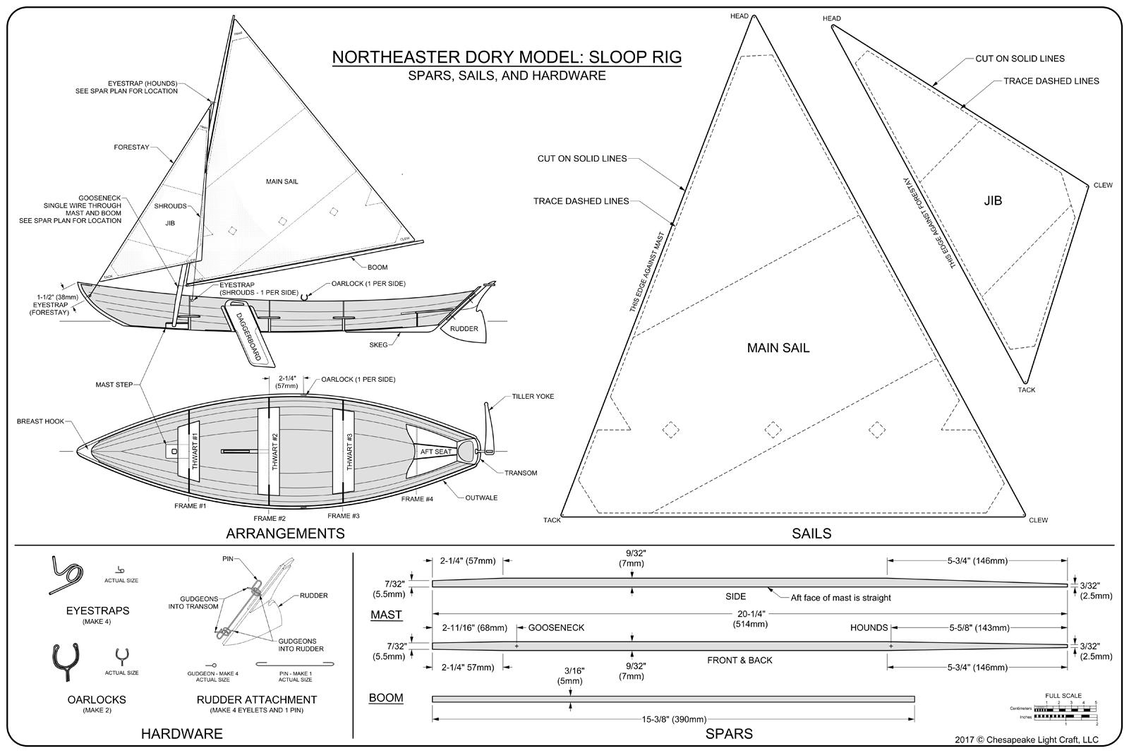 CLC Scale Model Northeaster Dory