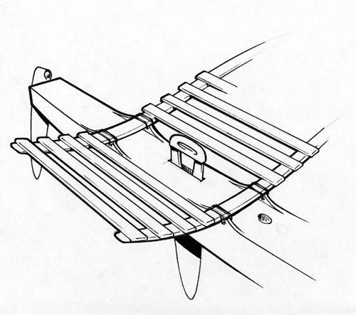 clc outrigger junior a 15 foot tacking proa Roof Luggage Rack early sketch of a seating scheme