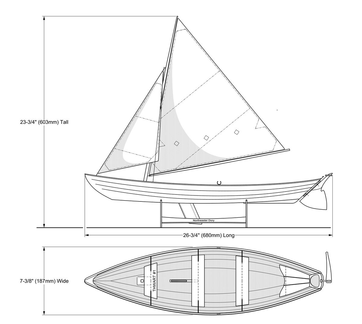 Dory Model Dimensions