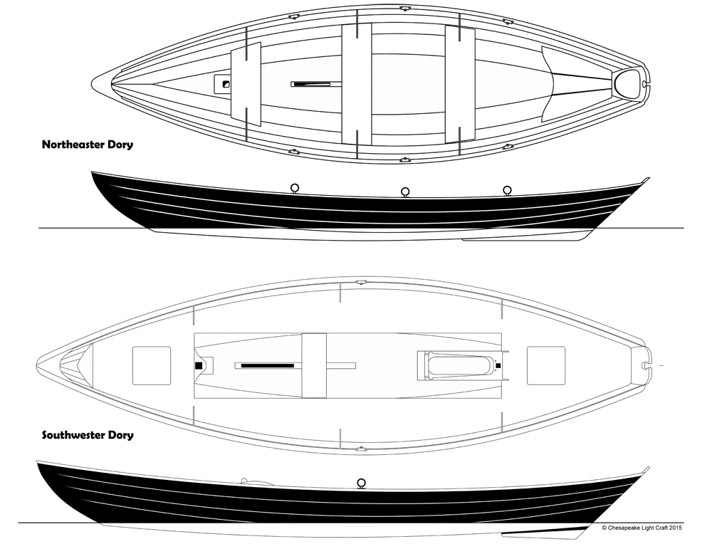 Traditional Dory kits by Chesapeake Light Craft