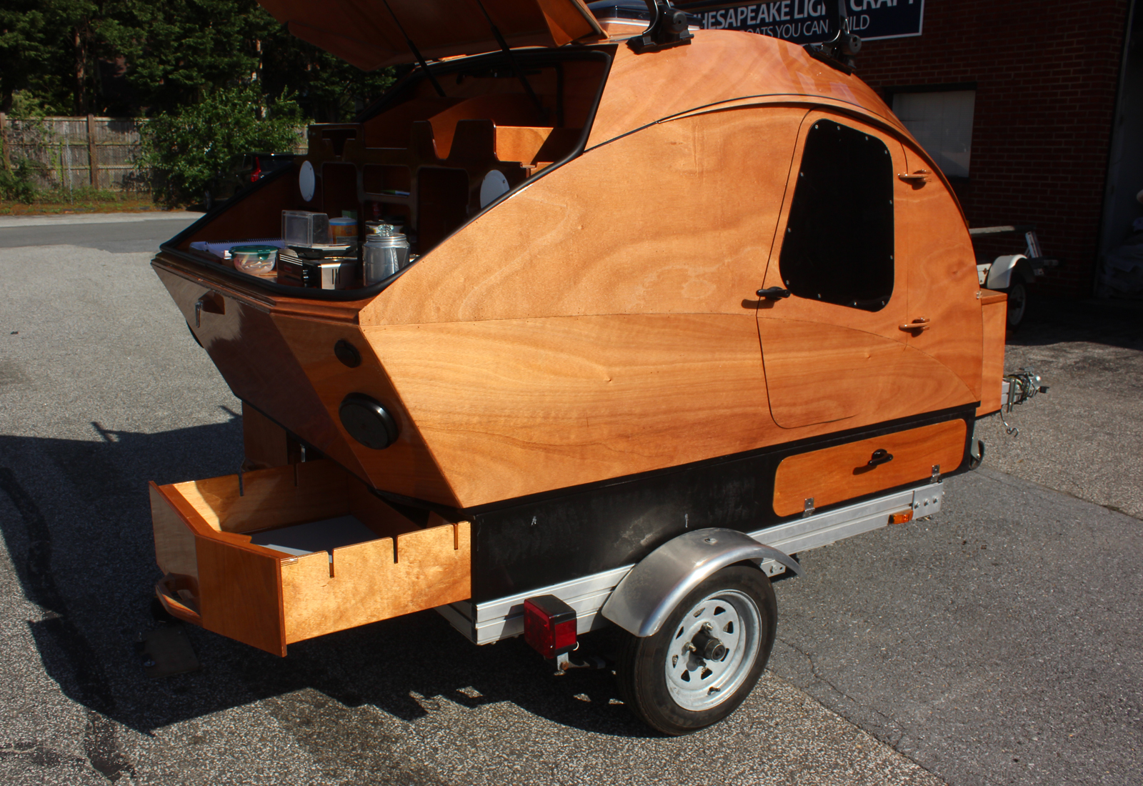 Teardrop Camper: Integrated Cargo Carrier