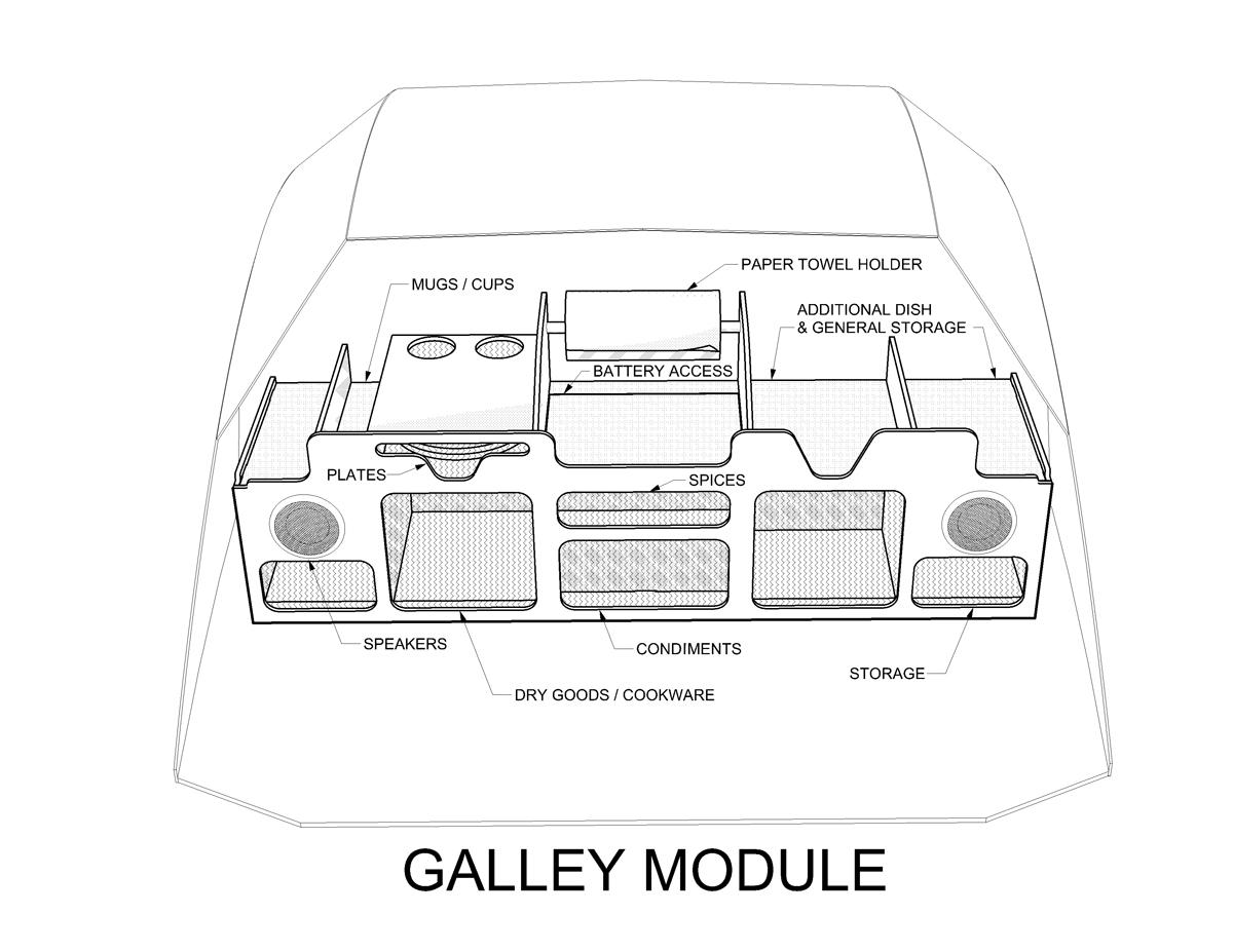 ... Galley Cabinet Module, ...