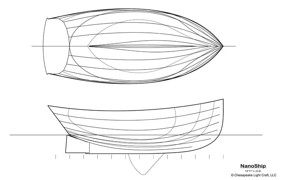 NanoShip hull lines