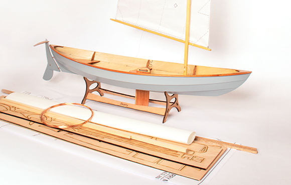 Beautiful Scale Model Boat Kits Kayak Dory Skiff