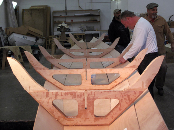 Team Dory - stitching hull frames