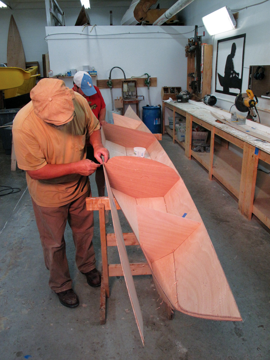 How do you build a wooden boat - stitching hull