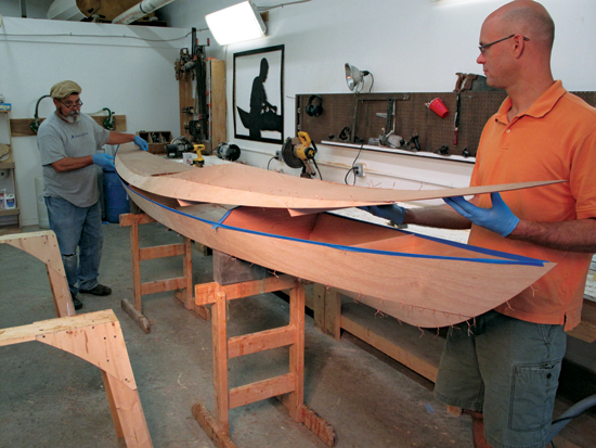 How do you build a wooden boat - attaching hull to the deck