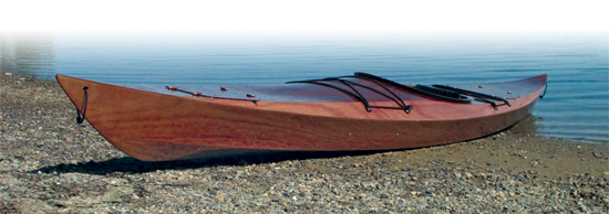 How do you build a wooden boat - finished kayak