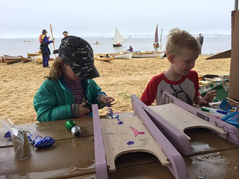 Kids' model boats