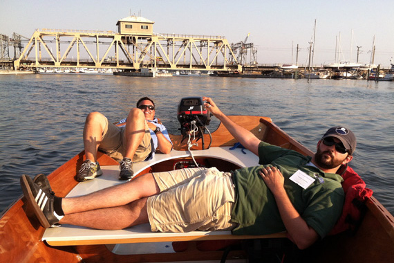 Evening Cruise down the Mystic River in the Peeler Power Skiff