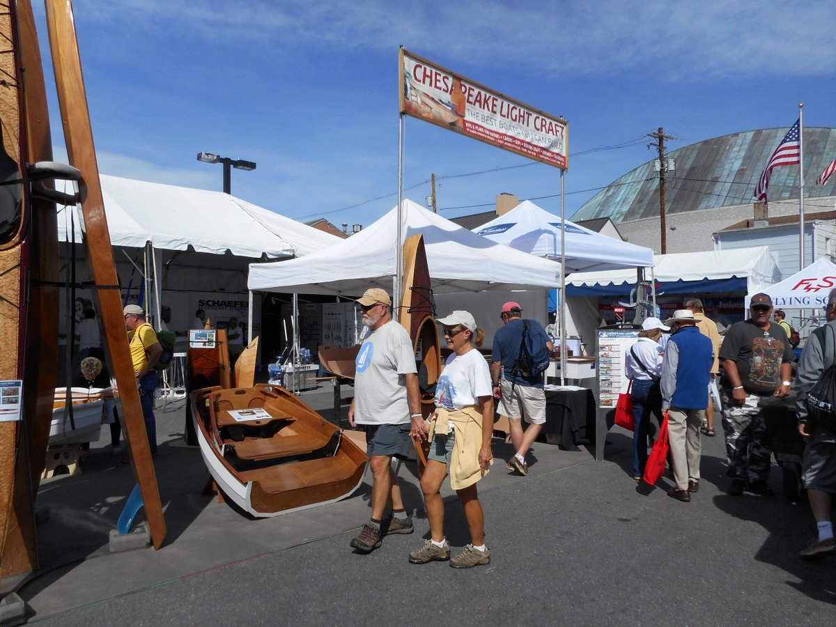 Chesapeake Light Craft US Sailboat Show Booth