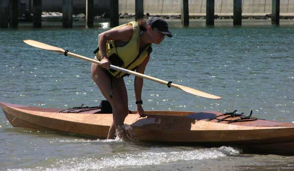 chesapeake light craft, wooden kayak, dana point, clc demo, wooden boat, sea island sport, sit-on-top