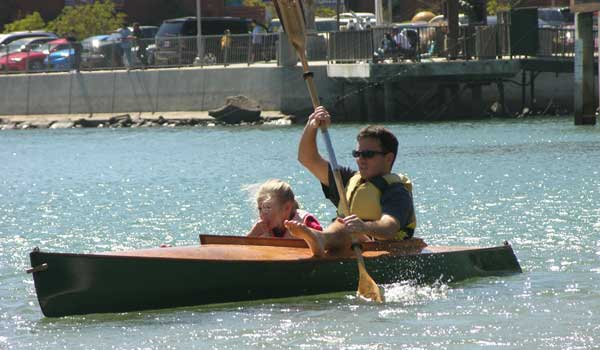 chesapeake light craft, wooden kayak, dana point, clc demo, wooden boat, mill creek