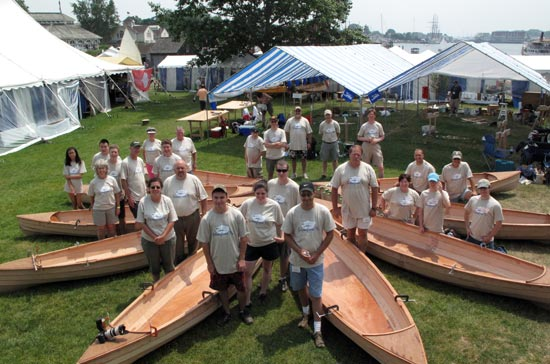 Family Boatbuilding at the WoodenBoat Show