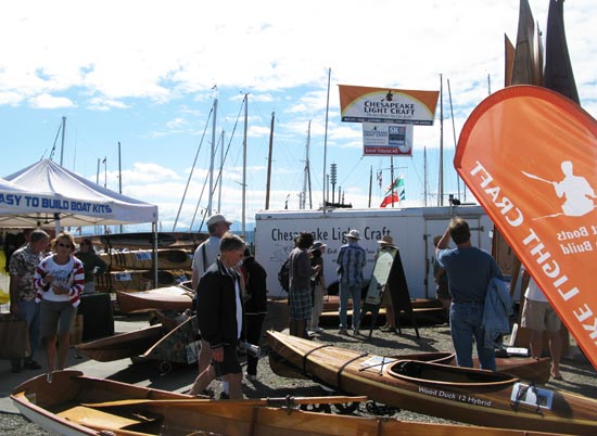Chesapeake Light Craft Booth at The Wooden Boat Festival in Port Townsend, Washington