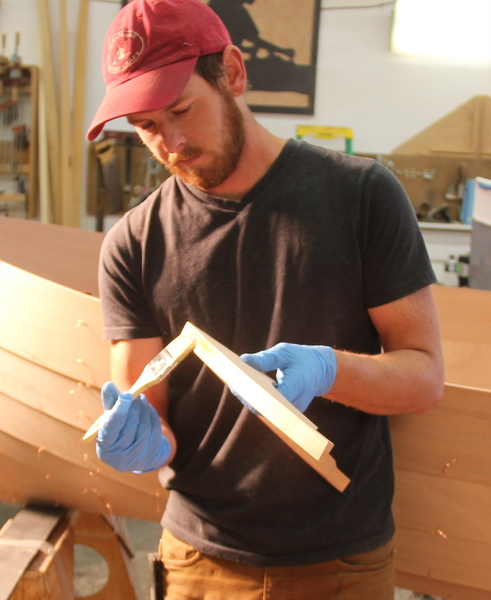 CLC Boatbuilding Instructor Dillon Majoros