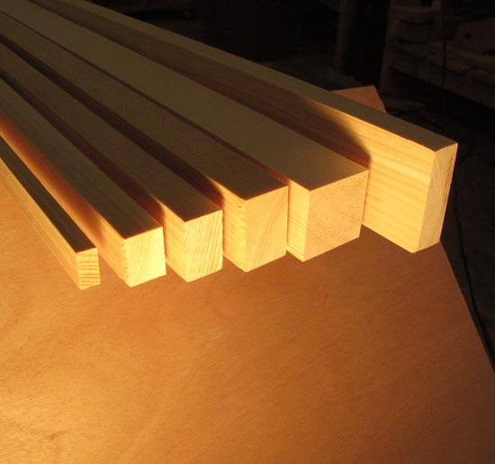 Cypress Sheer Clamps and Stringer Material - Marine Lumber