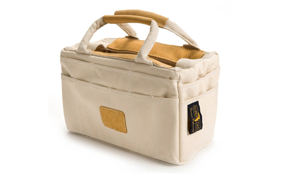 Canvas Tool Bag with Leather Trim