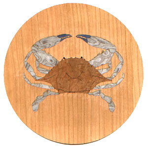 Blue Crab Marquetry Inlay/Onlay Kit