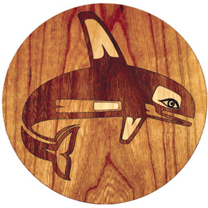 Orca Whale Marquetry Inlay/Onlay Kit
