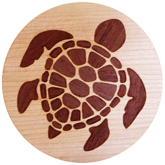 Sea Turtle Marquetry Inlay/Onlay Kit