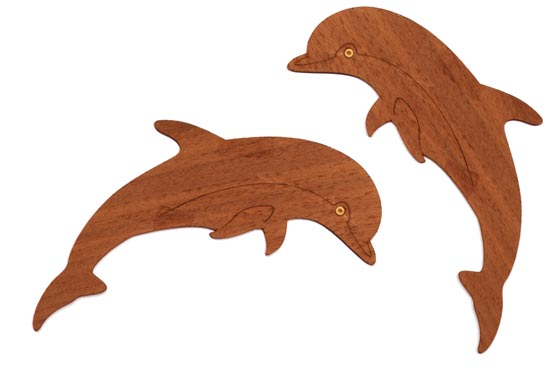 Dolphin Onlays (small) - Set of Two