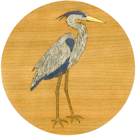 Blue Heron Marquetry Inlay/Onlay Kit