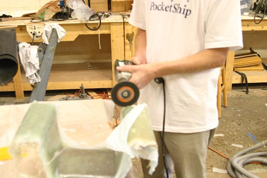 Fiberglass Outboard Bracket for PocketShip