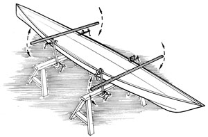 kayak twist, build kayak, wooden kayak, check twist