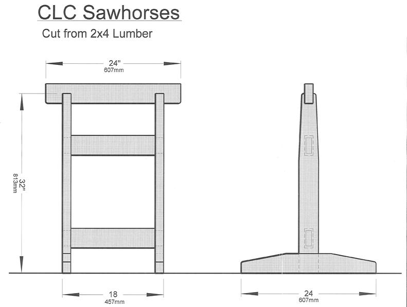 Chesapeake Light Craft 187 Sawhorses And Slings 187 Chesapeake