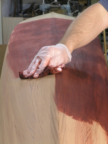 Staining Cedar Strip Kayak