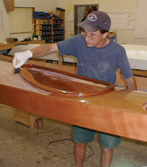 varnish kayak, chesapeake varnish